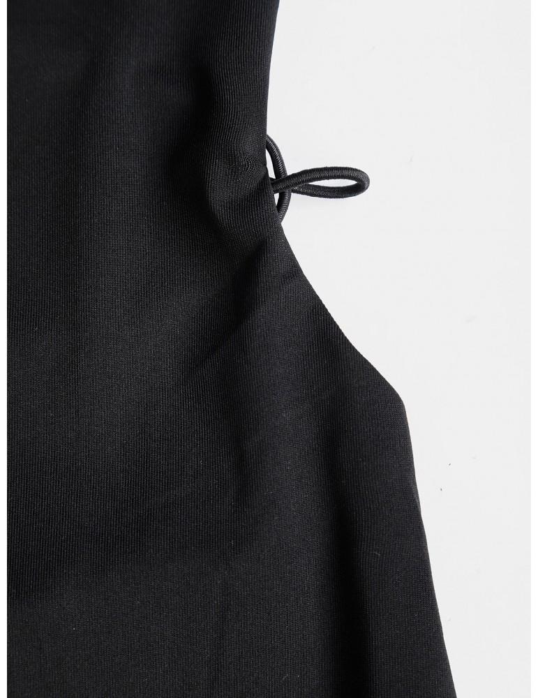 Backless Criss Cross Bodycon Cami Dress - Black Xl