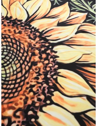 Sunflower Print Beach Throw - Multi-a