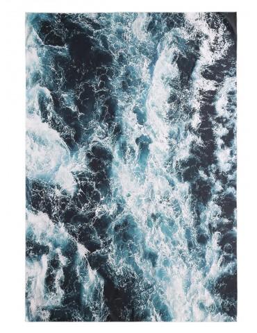 Rectangle Seawater Print Beach Throw - Sea Green