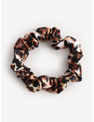 Leopard Hair Scrunchie - Leopard