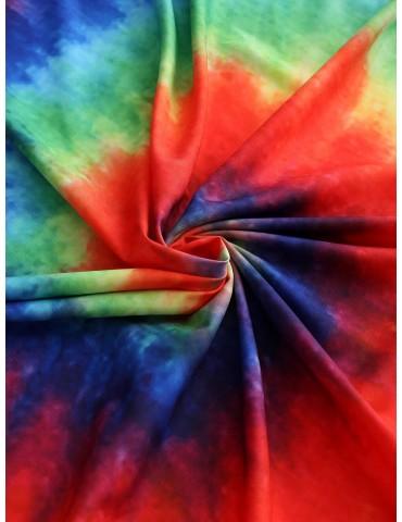 Spiral Tie Dye Print Beach Throw - Multi-a