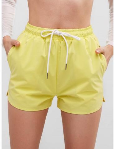 Drawstring Pocket Shorts - Yellow L