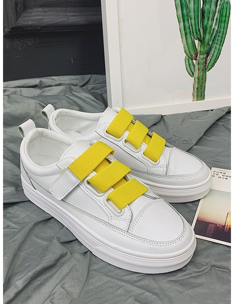 Candy Color Hook Loop Skate Shoes - Yellow Eu 39
