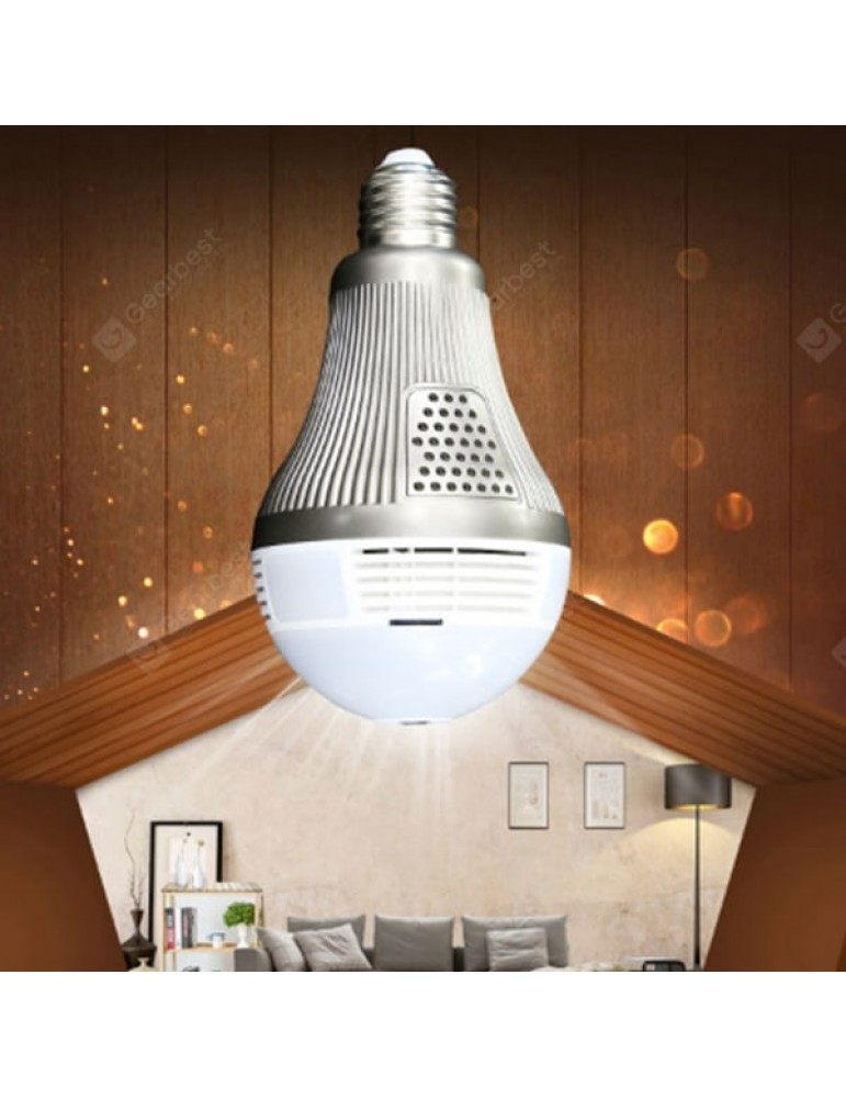 Panoramic View Wi-Fi IP Bulb Security Camera for Android User